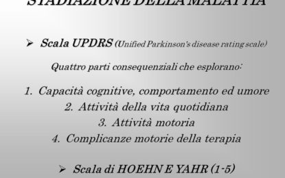 La scala UPDRS (Unified Parkinson's disease rating scale)